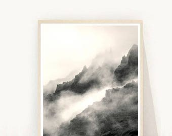 Mountain Wall Art, Mountain Prints, Minimalist Print, Printable Wall Art, Instant Download, Home Decor, Wall Decor, Wall Prints