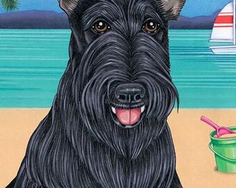 Scottish Terrier Beach Towel 48043