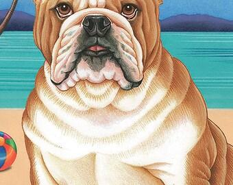 Bulldog Beach Towel  48025