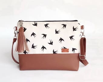 Gift for Woman - Shoulder Bag - Unique Gift - Crossbody Bag - Birds lover gifts - Women Bags - Crossbody Purse - Handbag with birds