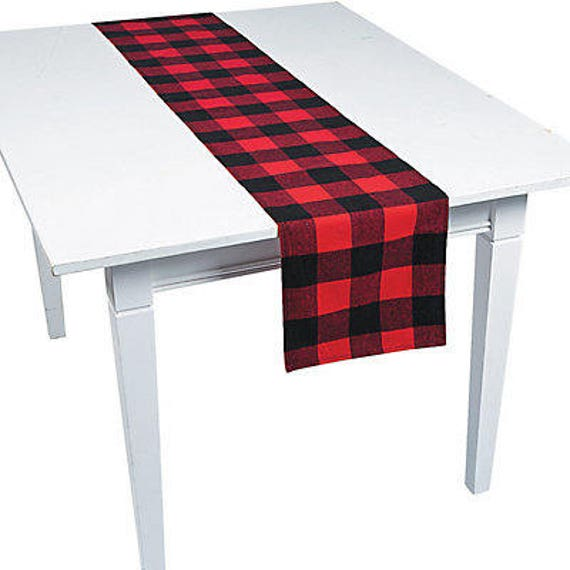 Buffalo Plaid Table Runner   Lumberjack First Birthday, Lumberjack Baby  Shower, Lumberjack Tablecloth, I Do BBQ, Buffalo Plaid Baby Shower From  SteshaParty ...