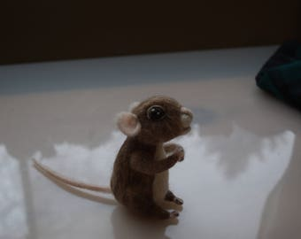 Sweet Fantasy Mouse Needle Felted in 100% Wool