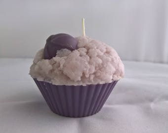 Lavender Scented Cupcake Candle