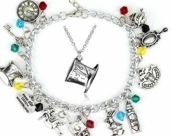 Alice in Wonderland bracelet, Alice in Wonderland necklace, Alice in Wonderland jewelry, Alice in Wonderland, Alice in Wonderland costumes