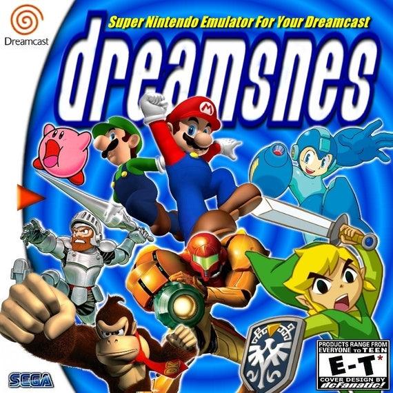 DreamSNES Super Nintendo Emulator Custom Sega Dreamcast Game.