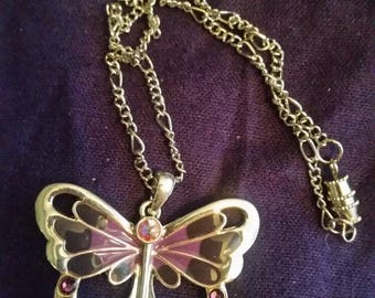 Butterfly with Swarovski crystals