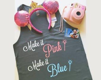 "Princess Aurora Inspired Tank - ""Make it Pink...Make it Blue""  Great for a Disneyland or Walt Disney World Vacation!!"