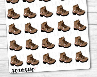 B074   Hiking Boots Kawaii Planner Stickers