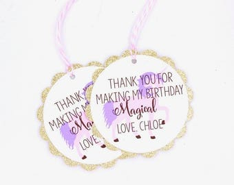 Unicorn Favor Tags, Unicorn Gift Tags, Personalized Favor Tags, Custom Favor Tag