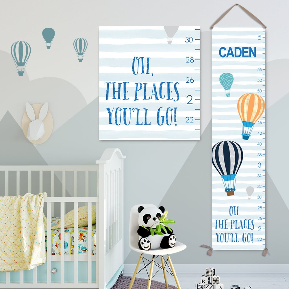 Oh the places youll go art personalized canvas growth chart oh the places youll go art personalized canvas growth chart height chart boy growth chart canvas growth chart gc3019s nvjuhfo Image collections
