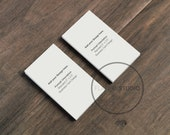 BUSINESS CARD MOCKUP / 2 Styles Portrait Orientation / Flat Lay Minimalist Styled Stock Photo / #123