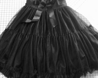 Adult, tutu, pettiskirt, wedding guest, petticoat, women's, skirt, gypsy, boho, hippie, steam punk, bohemian, black, dance, festival, gothic