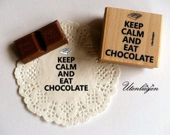 Stamp Keep calm and eat chocolate