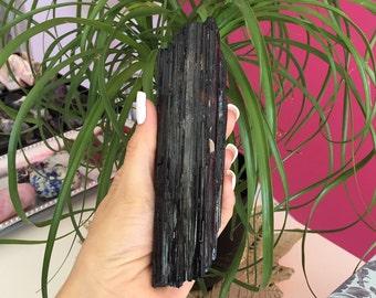 Large Black Tourmaline Protection Amulet infused w/ Reiki
