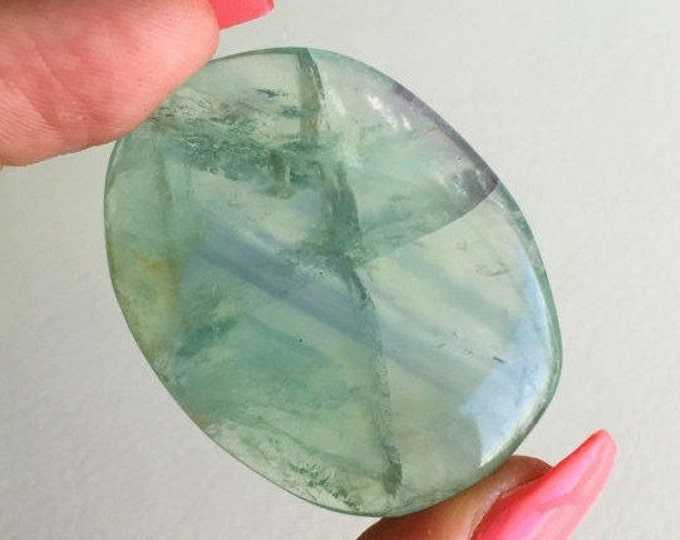 Green Fluorite Polished Healing Crystals and Stones w/ Reiki