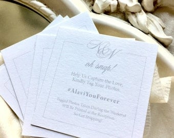 Instagram & Social Media Hashtag Wedding Cards