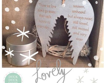 Those we love Wings Christmas Bauble auble by Duck Duck Goose