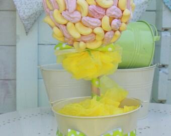 Sweet Tree -Foam Banana and Foam Shrimp, Sweet Gift, Sweet Bouquet, Sweet Hamper, Perfect Gift, Gift you can eat, Retro Candy Gift