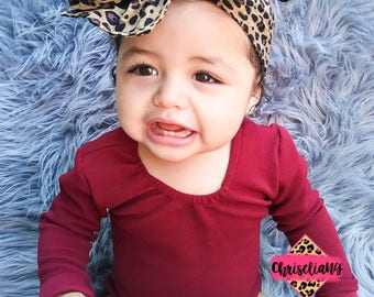 Cheetah head wrap, fabric head wrap, baby headwrap, toddler headwrap, headwraps, newborn headwrap, baby headband, leopard headwrap