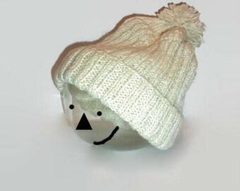 Ecru color woolen men Hat