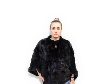 Light sheared fur cape ideal for plus sizes F131