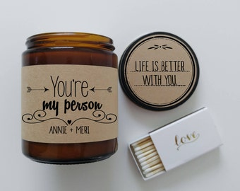 Youre My Person Personzlized Candle Birthday Gift Romantic Gift Boyfriend Gift Greys Anatomy BFF Gift for Husband Gift for Wife Candle Gift
