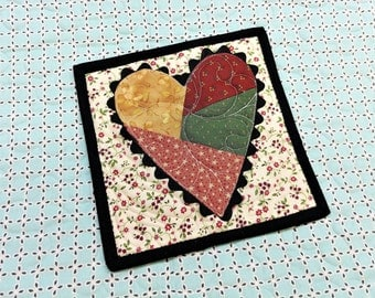 gift, wall art, mini quilt, quilted block, quilted art, orphan block