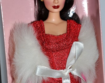 Mikelman Fabulous Fur Charise Red Hot Doll, Barbie Style Doll, Vintage Barbie Size Doll, Black Hair Doll, Collector Doll, Charise Doll