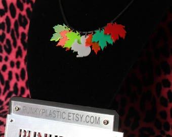 Autumn squirrel necklace