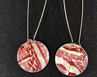 Marsala  Tin Earrings