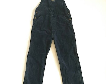 Vintage OSHKOSH dark navy overall coverall jumpsuit small