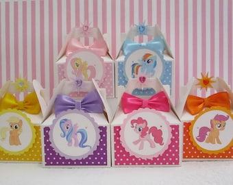 My Little Pony Favor Boxes, Little Pony Favor Boxes, Little Pony Party, Little Pony Party Favors, Little Pony Favors, Girl Favor Boxes Qty10