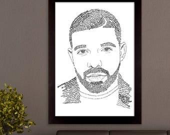 Drake Lyric Poster