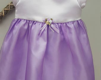Flower Girl Dress, Bridesmaid Dress, Baby Special Occasion Dress, Birthday Party Dress, Lilac/purple Dress. 3-6 months By JQDdresses