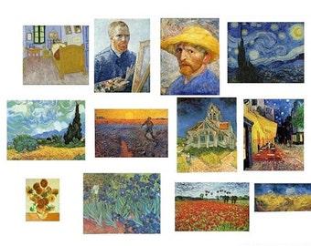 Vincent Van Gogh Stickers,Starry Night,MacBook Decal, Laptop Stickers,Planner Sized Sticker,Laptop Decal,Art Sticker