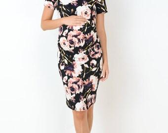 Hello Miz Floral Print Maternity Dress