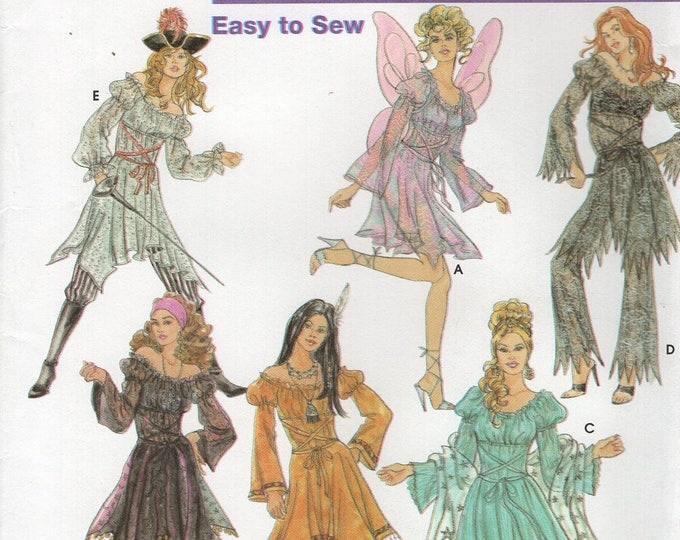 Free Us Ship Simplicity 5363 Sewing Pattern  Miss Fairy Princess Indian Boho Dress Costume Size 14 16 18 20 14/20 Bust  36 38 40 42 New