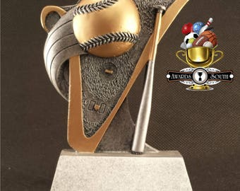 Baseball/Softball Resin Award - Free Engraving - Baseball Trophy - Softball Trophy - Participation Award - Sports Award