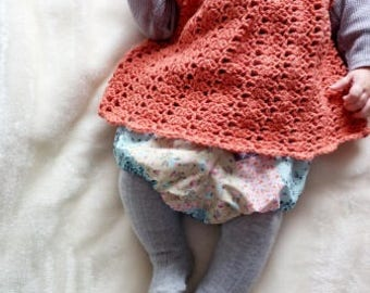 Crochet dress, pinafore dress, lace dress