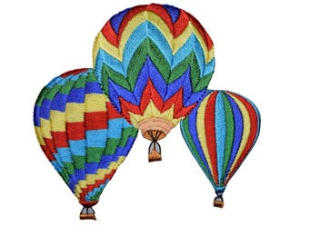 Hot Air Balloons Patch Applique (Iron On)