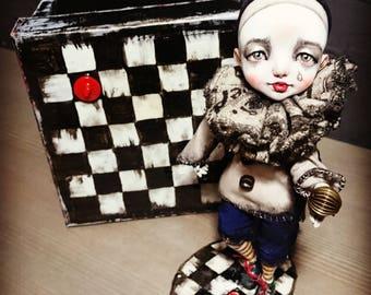 The doll is already sold Art doll, Ooak art doll, OOAK, Paperclay doll, Art clay doll, bjd, bjd doll