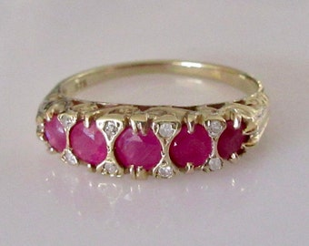 9ct Gold Ruby and Diamond