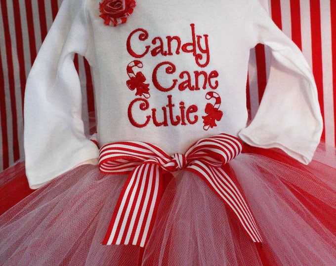Baby girl Christmas bodysuit,Girl Christmas outfit,Red and white tutu,Christmas tutu,Candy cane outfit,Candy cane shirt,Christmas headband