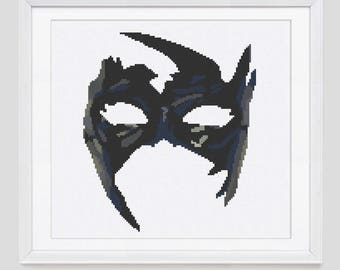 Cross stitch pattern, Mask cross stitch pattern, mask counted cross stitch pattern, cross stitch pdf pattern download
