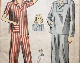 Vintage 1942 DuBarry Pajama Pattern, B36