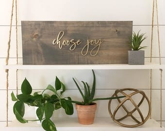 Choose Joy | 3D Wood Sign | Wood sign | Wall decor | Farmhouse decor | Farmhouse style | Rustic wood sign | Choose joy sign