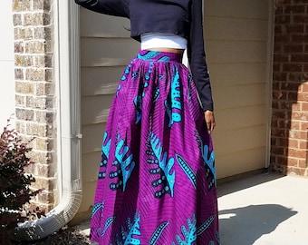 Dolores Ankara Maxi Skirt (XS - 6XL) 3 Color Options