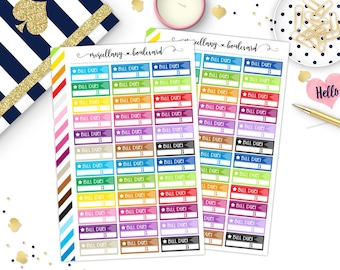 Rainbow Bill Due Trackers | 0008  MINI BINDER
