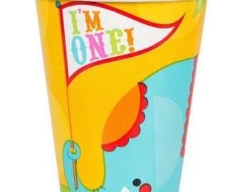 Fisher Price ''1st Birthday'' Circus Paper Cups 8ct