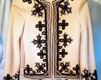 Vintage Venice wool jacket with embellishments in excellent condition, size small